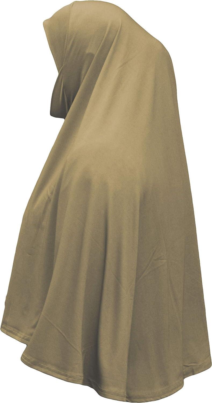 Fertiger Hijab aus einem St/ück XL al Amira mit Kinnbedeckung