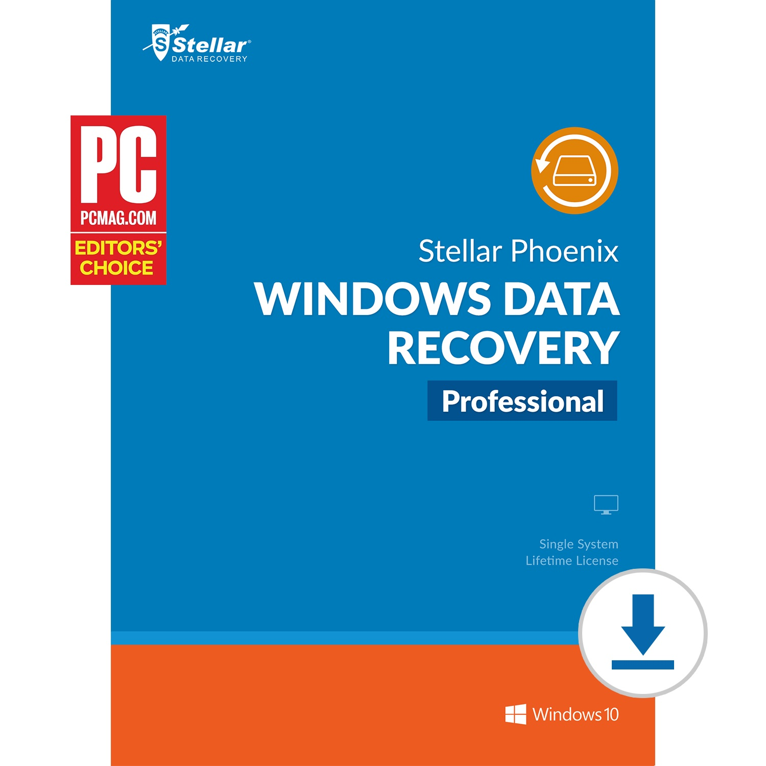 Stellar Data Recovery Software | for Windows | Professional | Recovers Data, Photos, Videos, Email & Dvd | 1 Device, 1 Yr Subscription | Instant Download (Email Delivery)