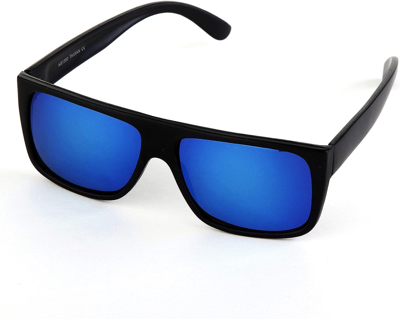 Legend Eyewear Classic Old School Color Mirror Square Flat Top OG Sunglasses