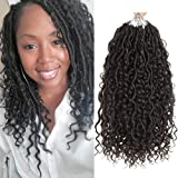 5packs NEW Goddess Locs Crochet Hair 14 Inch River Fauxs Locs Wavy Crochet With Curly Hair In Middle And Ends passion…