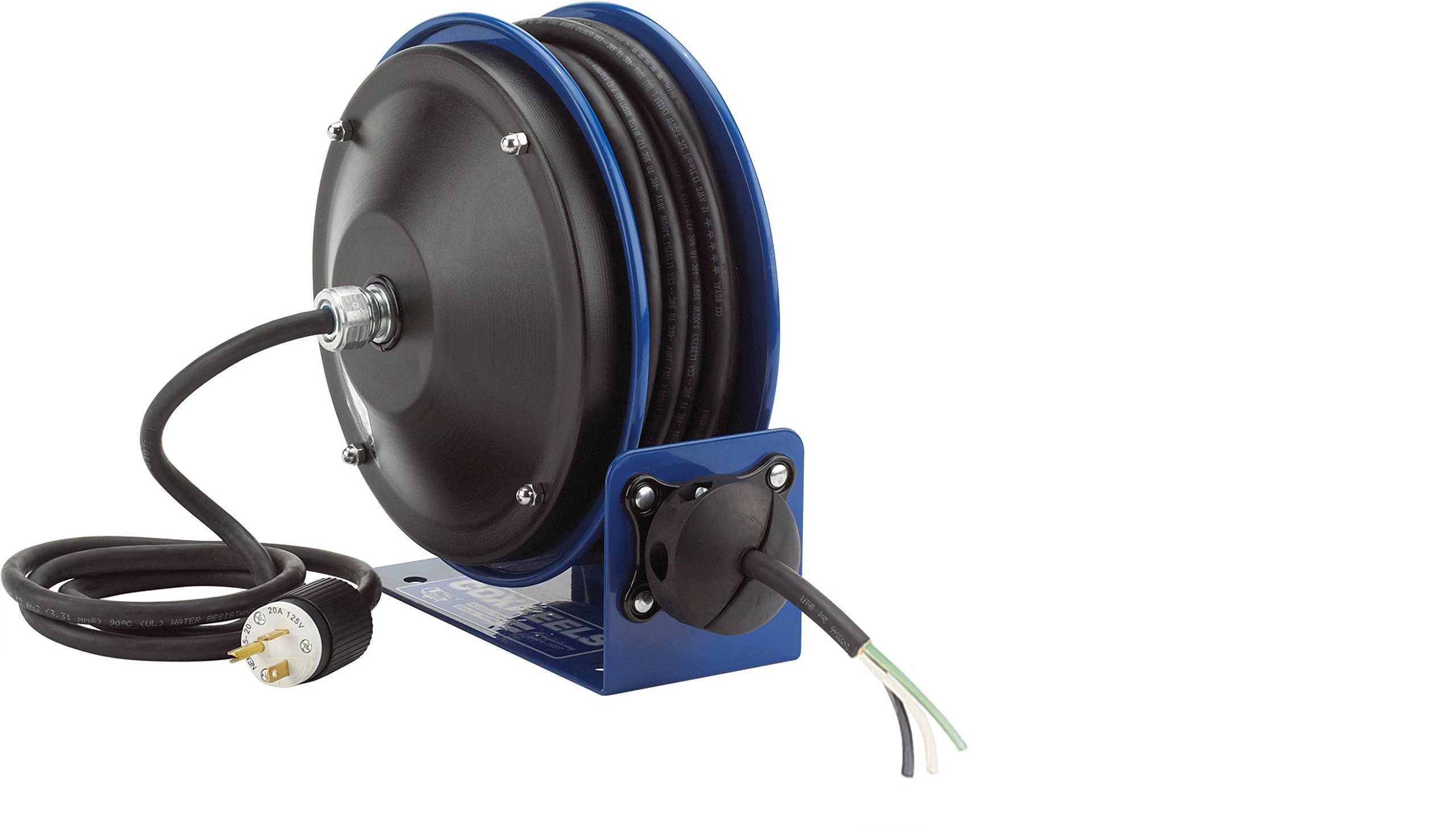Coxreels PC10-3012-X Compact efficient heavy duty power cord reel with no accessory