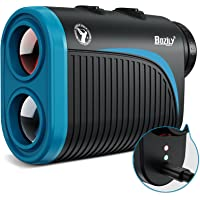 BOZILY Golfafstandsmeter, 6 x oplaadbare laser rangevinder, 1200 meter lasermeter met kantelinstelling, vlag-slot, 2…