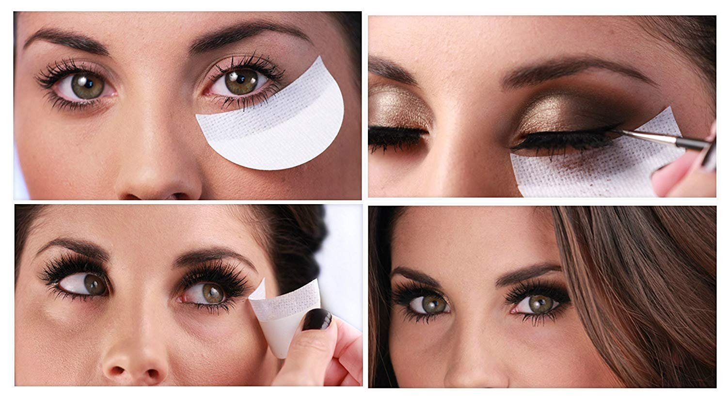 5ba5aed94e7 10 Disposable Under Eye Makeup Strip Beauty Guard Pads Cosmetic Tools:  Amazon.co.uk: Beauty