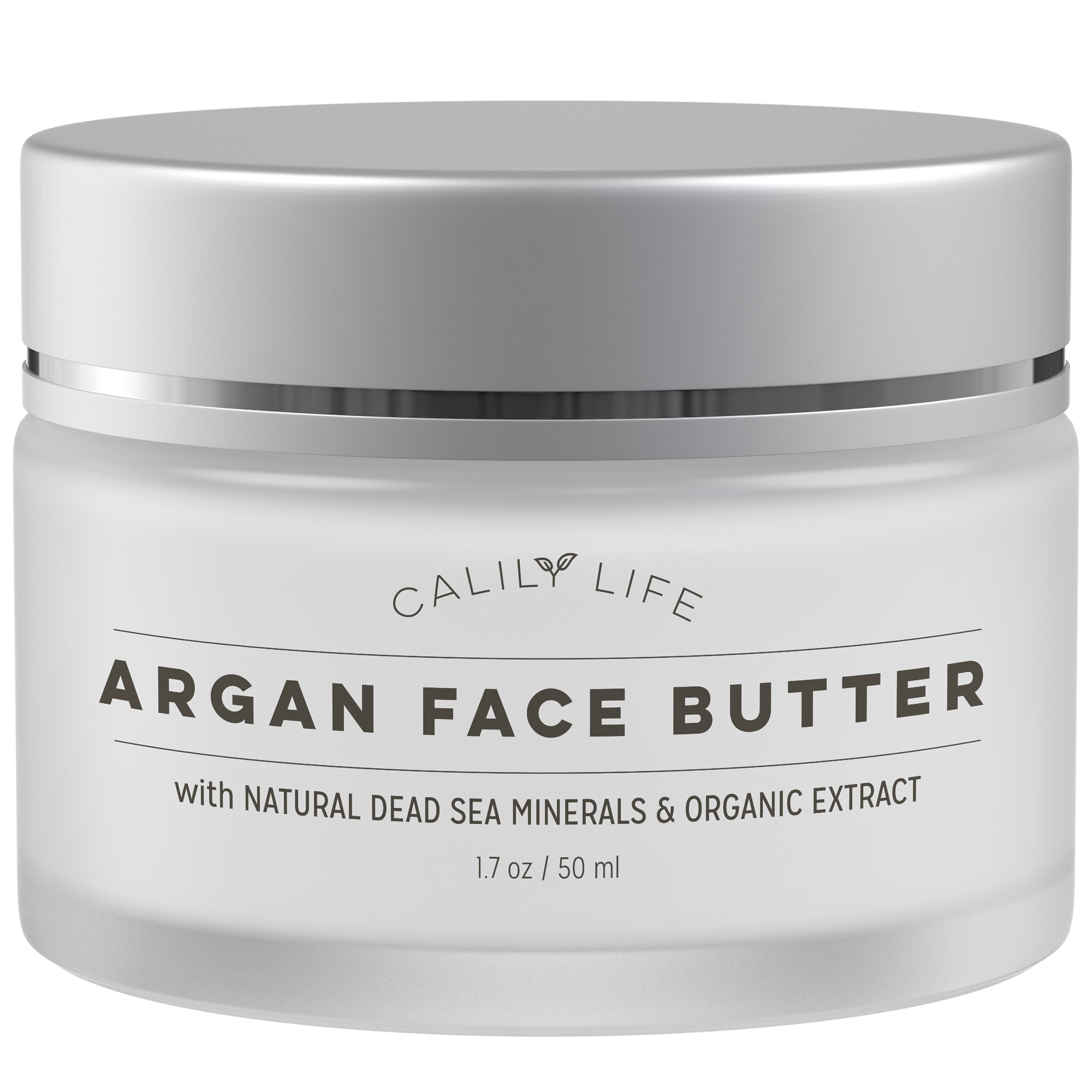 Calily Life Organic Argan Face Cream with Dead Sea Minerals, 1. 7 Oz. – Restores, Smooths, Moisturizes and Regenerates - Powerful Hydration - Combats Wrinkles and Aging - [ENHANCED]