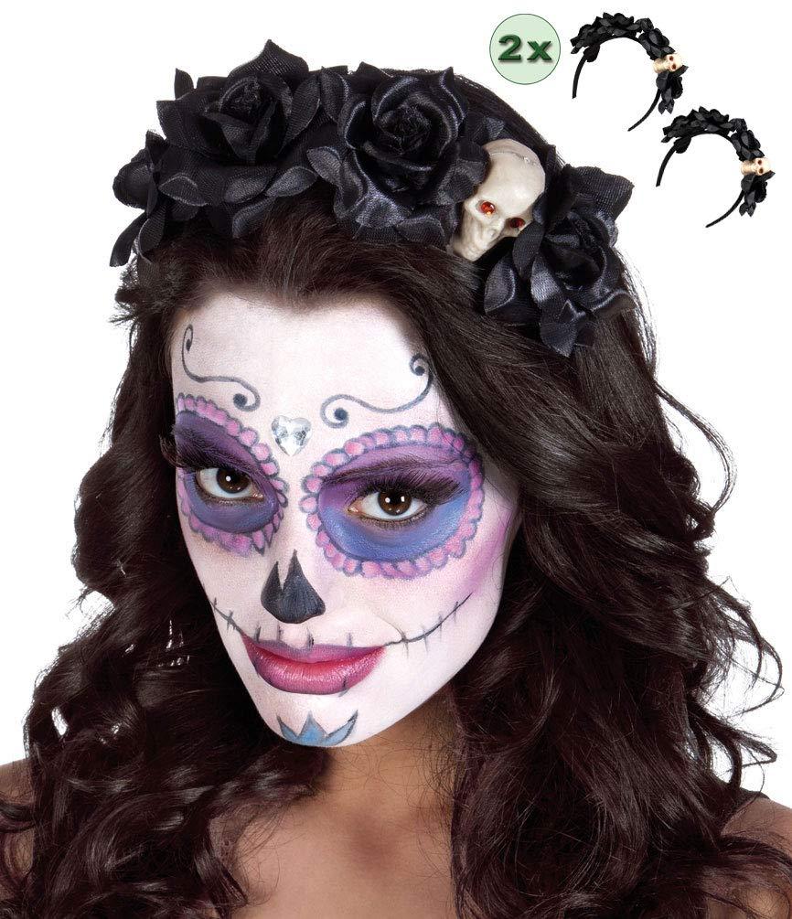 Tag der Toten Maske Schleier Mexikanisch Spanisch Kostüm Zubehör Neu