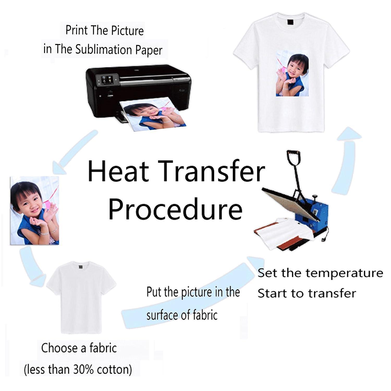 Carta trasferibile per stampante a getto dinchiostro//magliette 21 x 29 cm LIWUTE 100 fogli formato A4