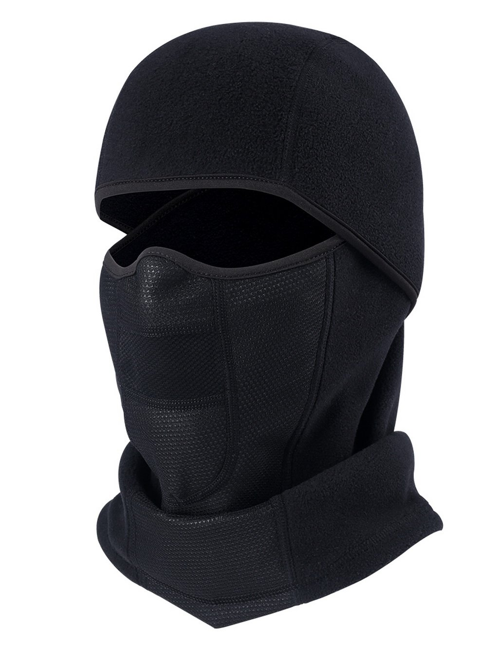 ChinFun Balaclave Windproof Ski Mask Cold Weather Face Mask Winter Tactical Hood Motorcycle Neck Warmer Ultimate Thermal Retention Winter Outdoor Premium Soft Moisture Wicking Black-Polar Fleece
