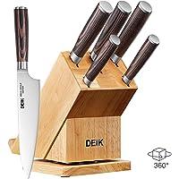 Deik 6 Piece Knife Set with Pakka Wood Handle