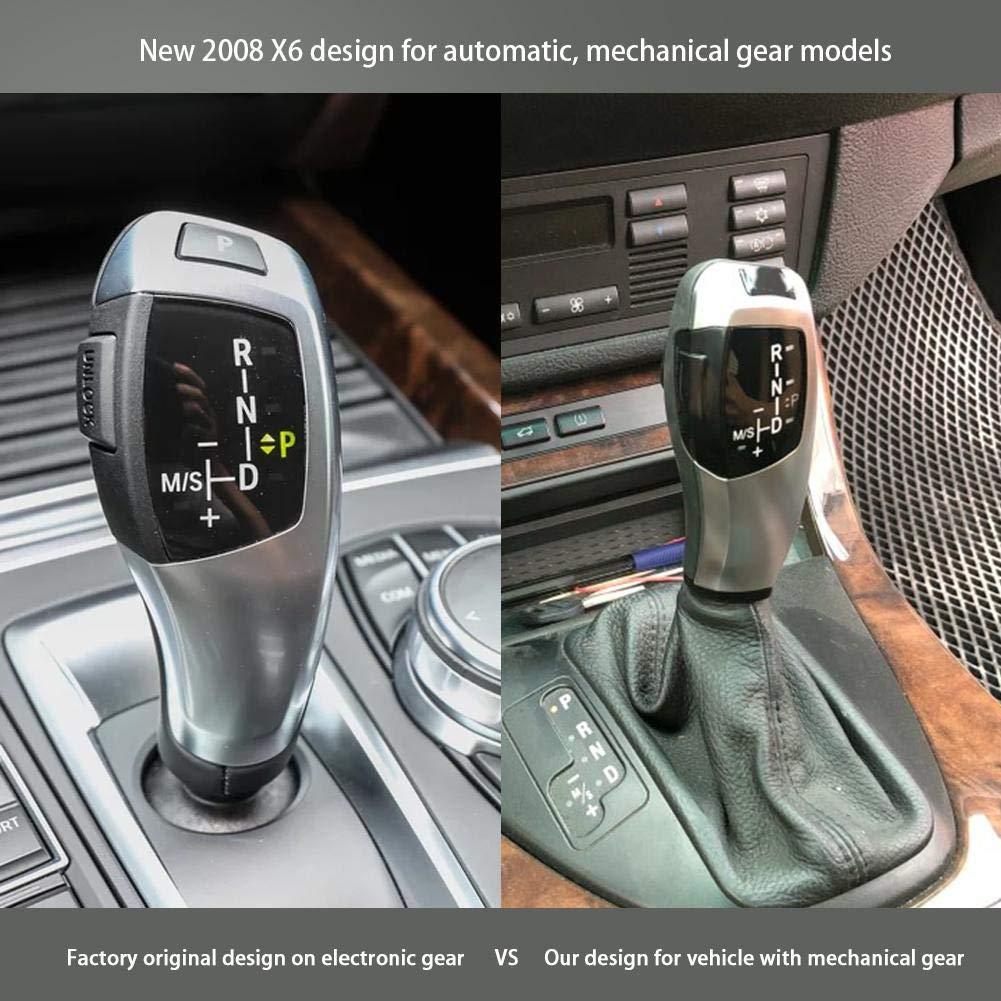 EBTOOLS LHD Automatik LED Schaltknauf Schalthebel f/ür E46 E60 E61 E63 E64 Swarchz