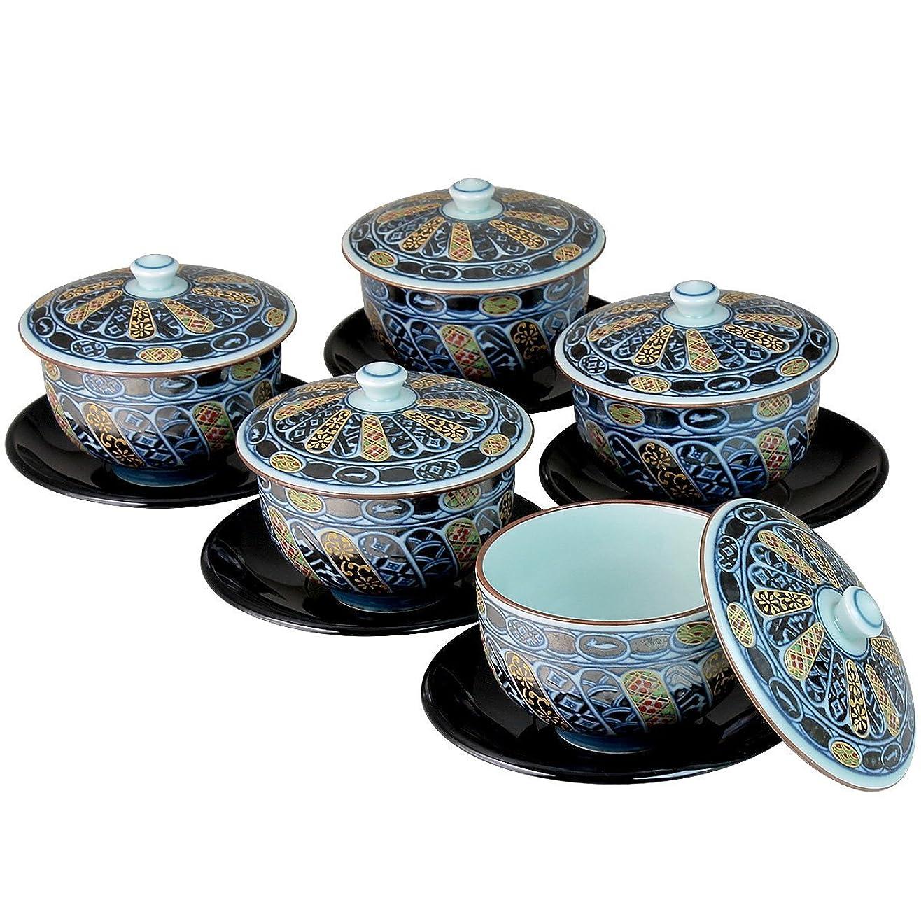 定義許容オデュッセウス錦まき絵 茶托付蓋付茶器 12-06