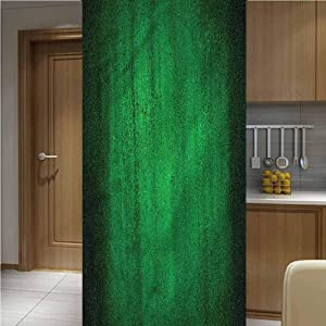 LCGGDB Jade Green ONE Piece 3D Printed Window Film Privacy Glass Film,Worn Out Wall Pattern Non-Adhesive Window Stickers Paint Frosted Static Cling Glass Decal,47.2