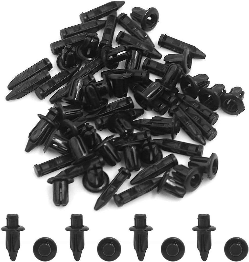 sourcingmap 30 Pcs 6mm Hole Plastic Rivets Fastener Push Pin Clips for Fender