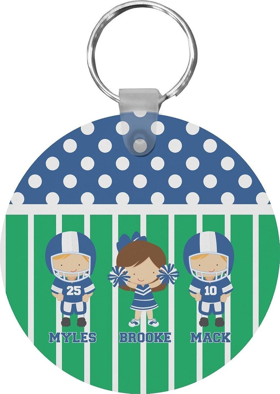 Football Round Keychain (Personalized)