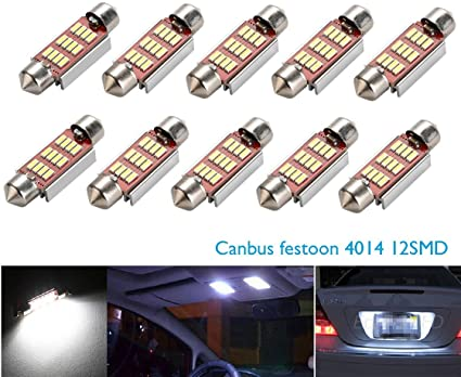Plafoniere Universali Per Auto : Cicmod pz universale auto led mm lampadine siluro canbus