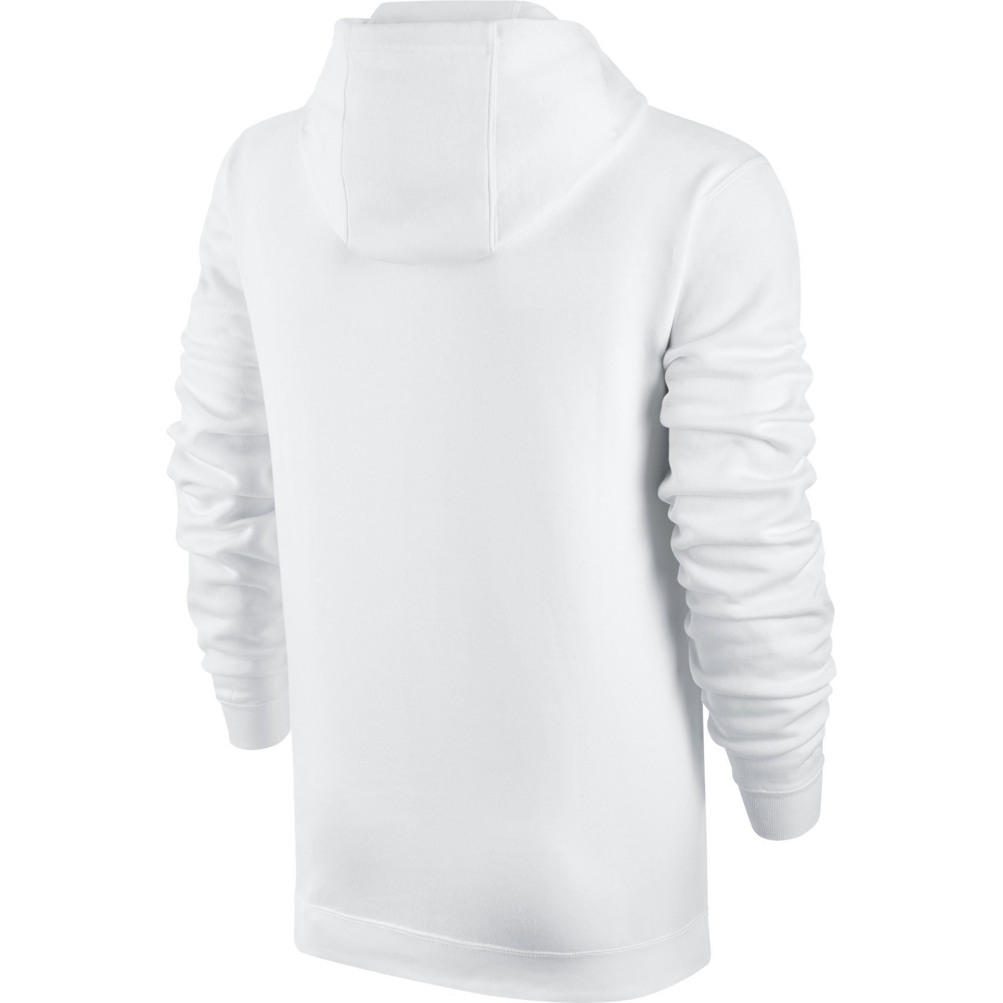 Men's Nike Sportswear Club Pullover Hoodie, Fleece Sweatshirt for Men with Paneled Hood, White/White/Black, XS by Nike (Image #2)