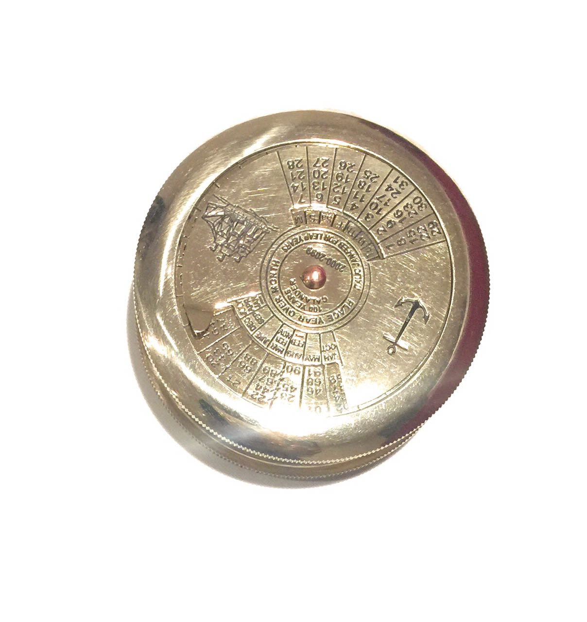 NAUTICALMART 100年CalenderコンパスMarine Collectibles B01K6R4ZSE