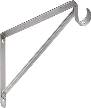 Stanley Home Designs 820209 Shelf And Hang Rod Bracket, Satin Nickel