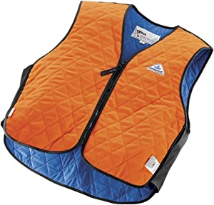 TECHNICHE INTERNATIONAL 6529-HV-FR-M Hyperkewl Evaporative Cooling Vest, Hi-Viz Orange, Medium.
