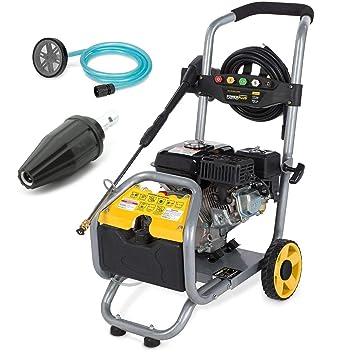 Power Plus® selbstansaugender limpiador de alta presión con motor de gasolina 173 Bar 6PS + Turbo de boquilla Vapor Foco Terraza limpiador: Amazon.es: ...