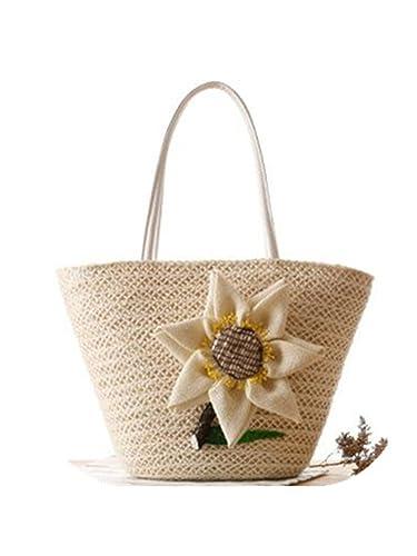 Amazon.com: Daniel verano playa bolsas de mujeres tela Paja ...