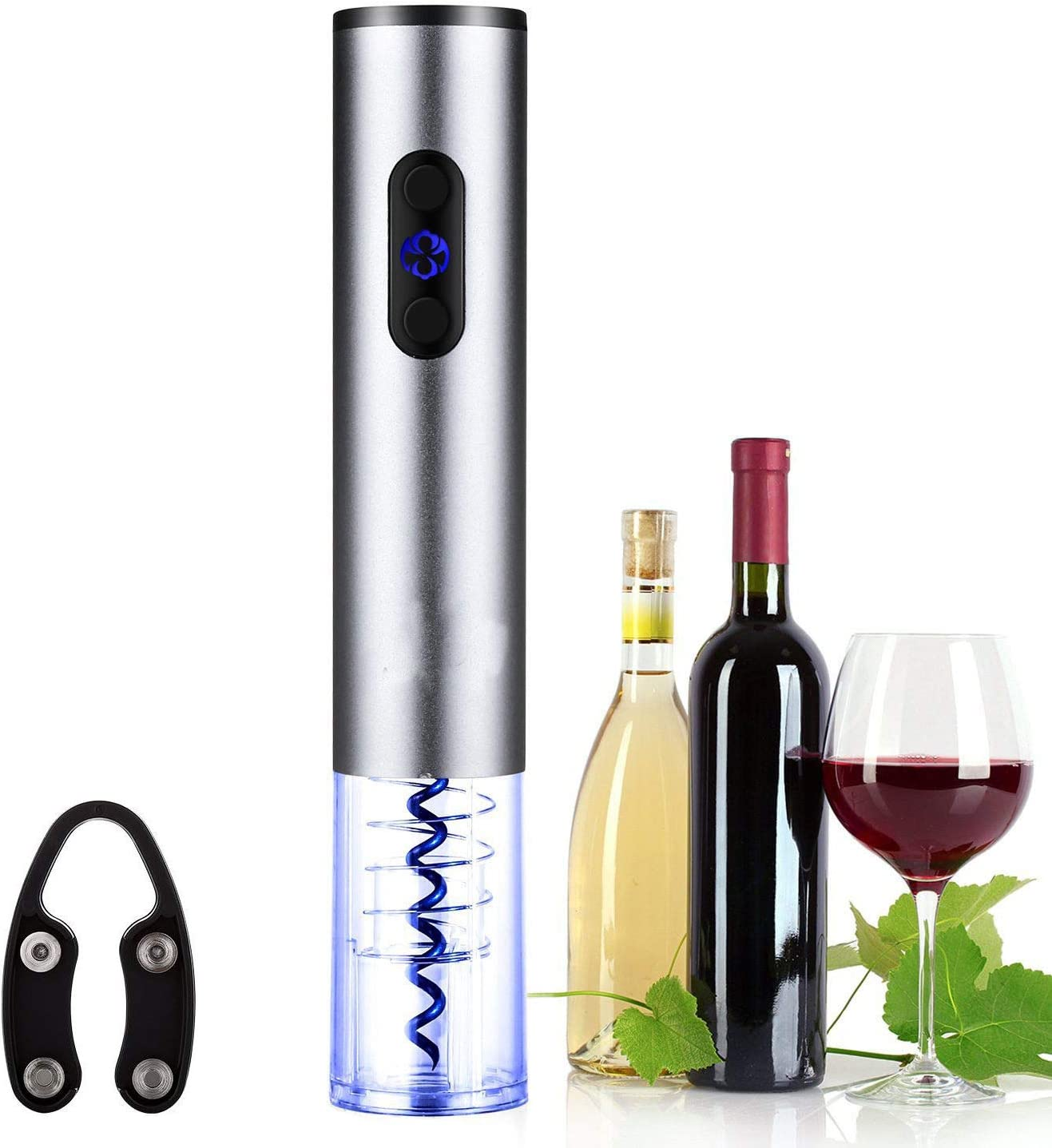 Electric Wine Bottle Opener Automatic Corkscrew with Vacuum Stoppers Foil Cut