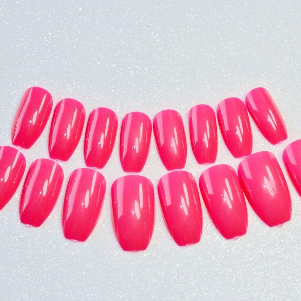 Brillantes uñas postizas de coffin rojas rosas y acrílicas para uñas de bailarina simple y dáidly desgaste uñas postizas 91B: Amazon.es: Belleza