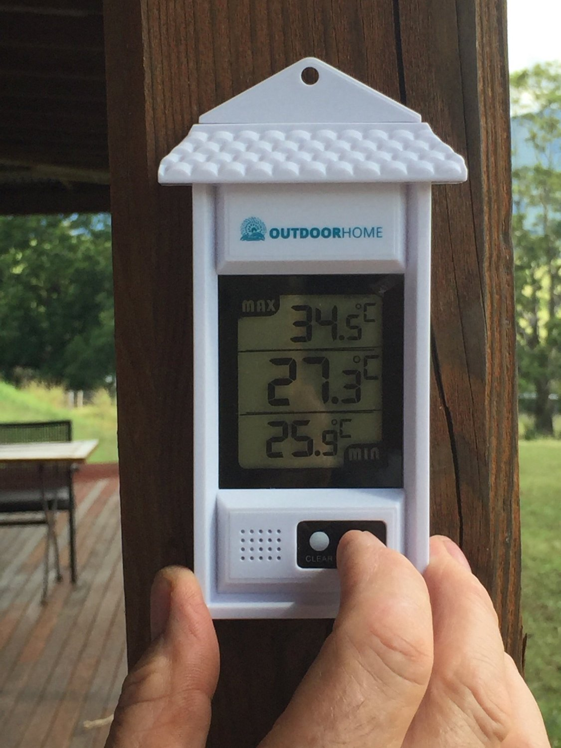 Digital Min Max Thermometer by Outdoor Home. Perfect for Garden, Patio or Greenhouse. Accurate Weather Thermometer with Current Temp & Auto Sensor for Min Max Readings Use Indoors Or Outdoors. by OutdoorHome (Image #5)