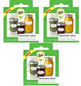 Ball Dissolvable Canning Labels, 60 Count (3-Packs)