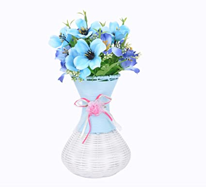 Buy Tied Ribbons Flower Vases With Artificial Flowers 75 Inch X 5