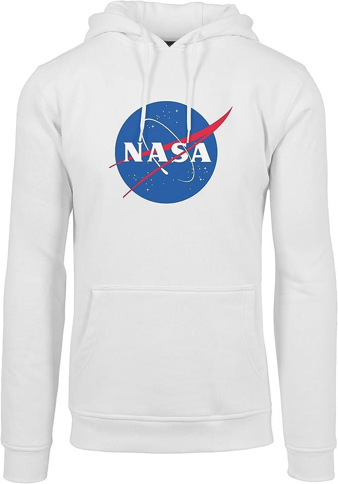 Urban Classics Sweat Hoody Homme Blanc NASA à Capuche