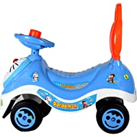 Regal toy's/Ride on Doremon Toy,/ Ride On Push Car Toy/No Batteries, Gears, or Pedals,Twist, Turn, Wiggle for Endless Fun Suitable for Boys & Girls ( Blue & White ) /1 to 5 Year Kids,