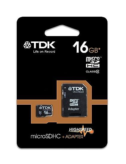 TDK T78727 - Tarjeta Micro SDHC de 16 GB, Clase 10, con ...