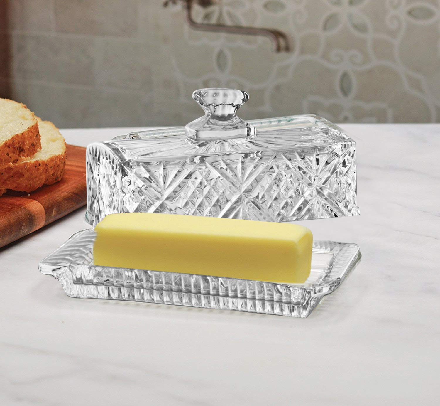 James Scott Crystal Covered Butter Dish by James Scott (Image #2)