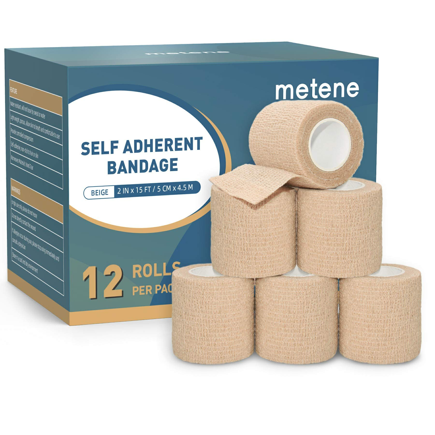 Self Adhesive Bandage Wrap 12 Pack Athletic Tape 2 Inches X 5