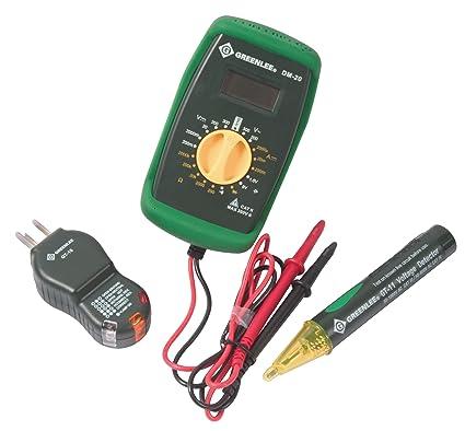 greenlee tk 30 basic electrical kit voltage testers amazon com rh amazon com Electrical Tester Ideal Receptacle Tester