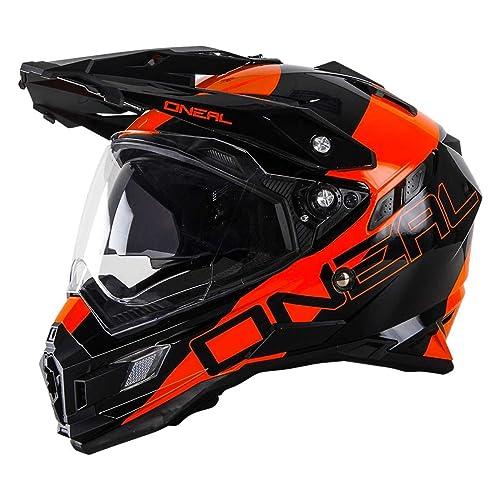 0815-202 - Oneal Sierra Adventure Edge Dual Sport Helmet S Black Orange