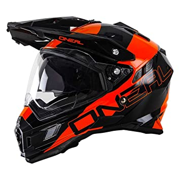 0815-202 - Oneal Sierra Adventure Edge Dual Sport Helmet S Black Orange