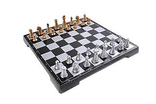 Quantum Abacus Gioco da Tavolo Magnetico (Versione da Viaggio): Scacchi - Pezzi magnetici, tavoliere Pieghevole, 20cm x 20cm x 2cm, MOD. SC2410-A (DE) The Khan Outdoor & Lifestyle Company