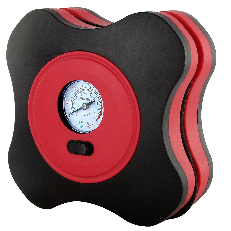 Discoball - Inflador portátil de neumáticos eléctrico (para bicicleta/moto/bolas/juguetes/flotadores), lector y medidor de presión (PSI/BAR/kPa): Amazon.es: ...