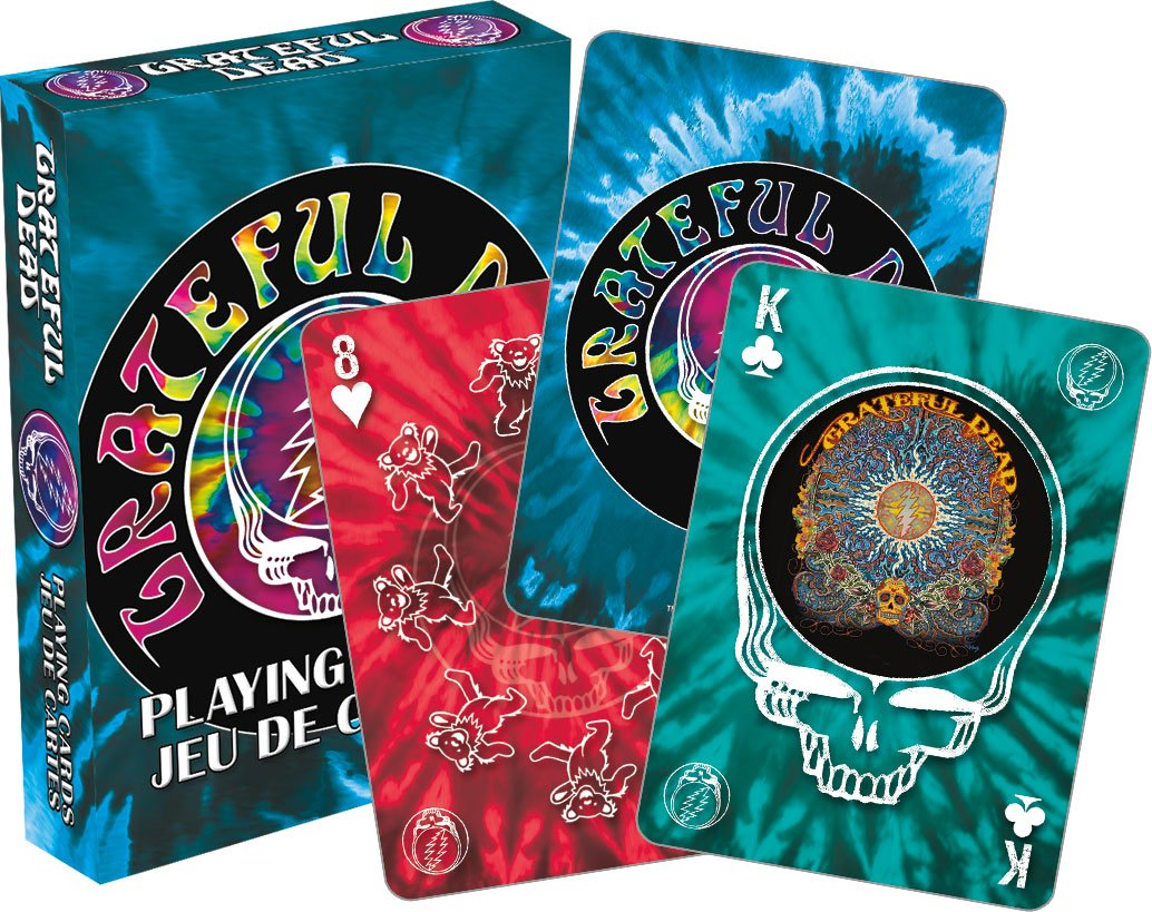 Amazon.com: Aquarius Grateful Dead Tie Dye Playing Cards: Cards ...