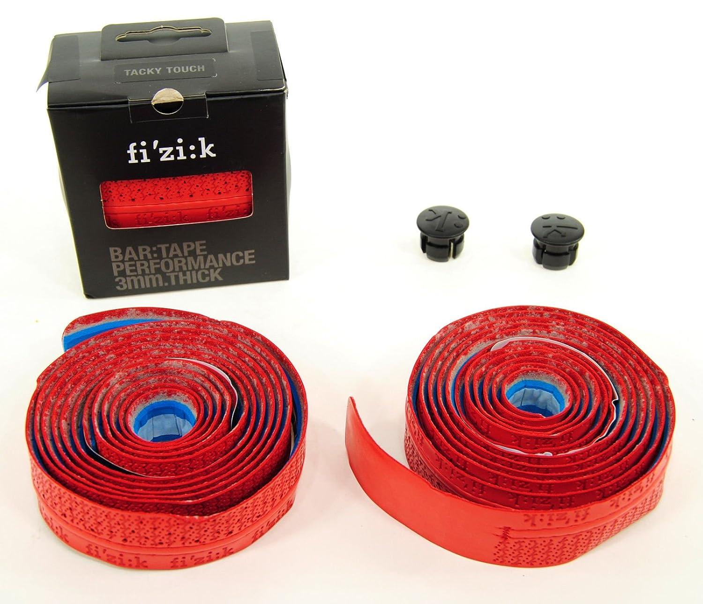 FizikロードバイクバーテープパフォーマンスTackyタッチMicrotex 3 mmレッド B076NHRRRQ