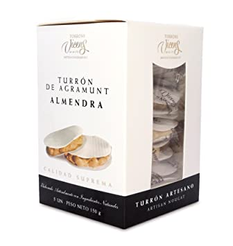 Classic Almond Brittle Turrón Rounds by Vicens