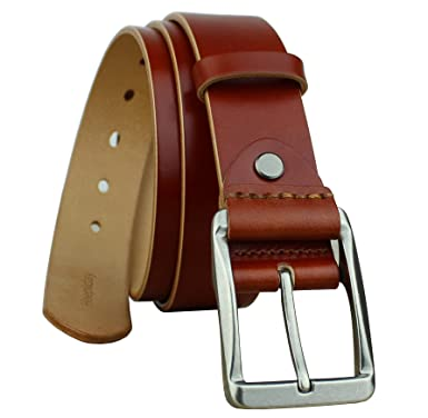 Heepliday Men S Casual Genuine Leather Belt For Jeans 1 5 Wide At