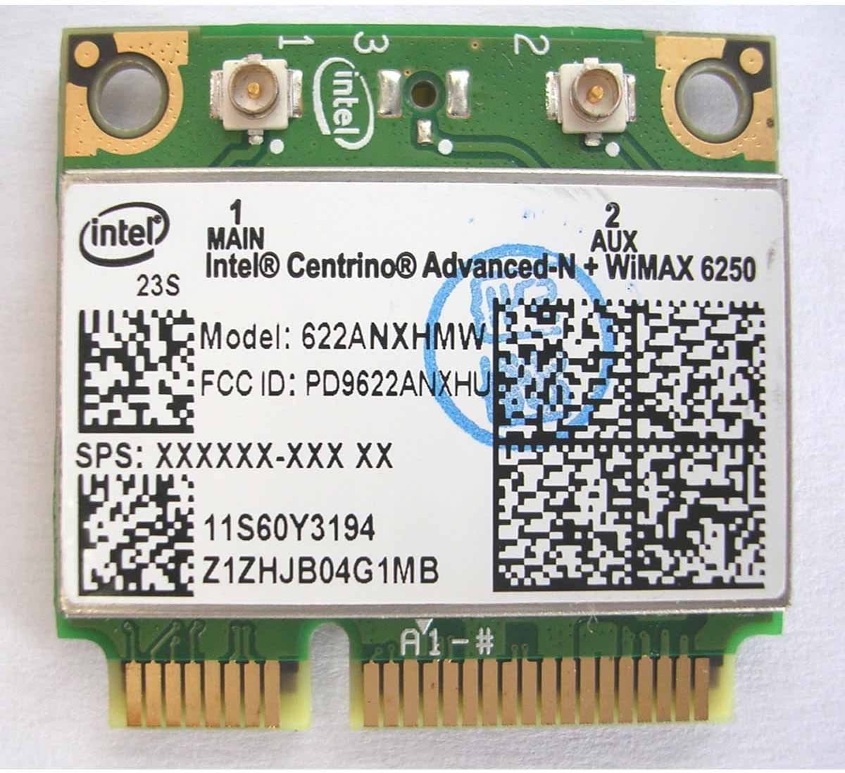 Intel Wifi/wimax Link 6250 6250anx Wireless N for IBM Thinkpad Lenovo ANX Wireless Half Pci-e Card