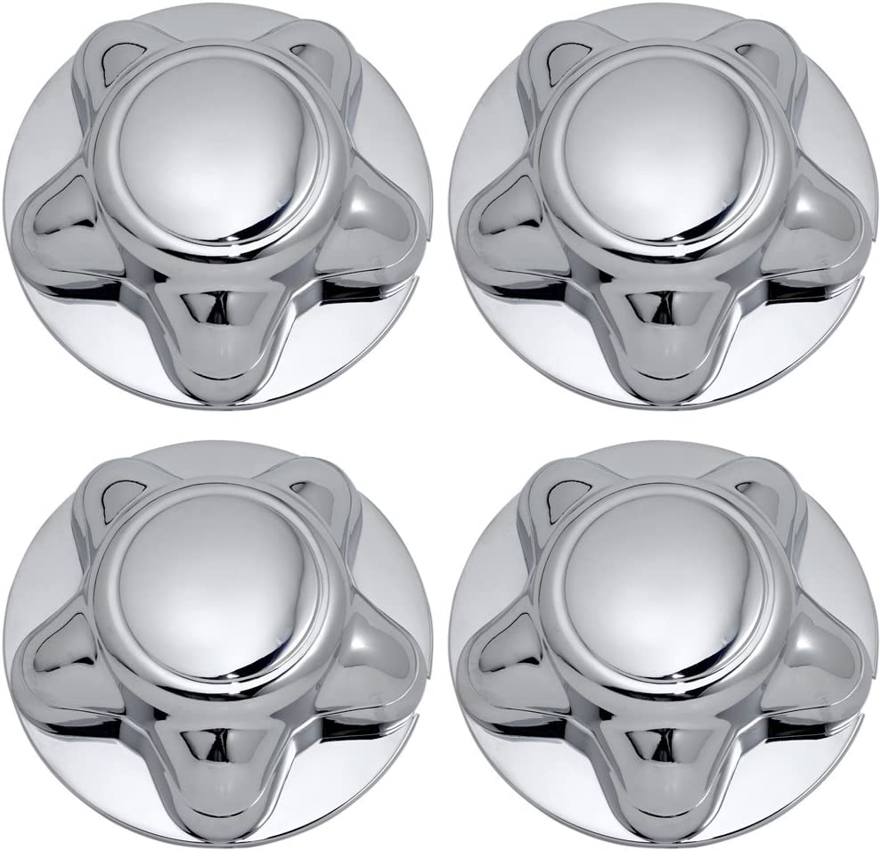OxGord Center Caps Best for 97-04 Ford F-150, Expedition & 98-03 Navigator - Snaps Over Factory Aluminum & Steel Wheel with 12/14mm 5-Lug Bolts - OEM Replacement YL34-1A096-DA (Pack of 4) - Chrome: Automotive