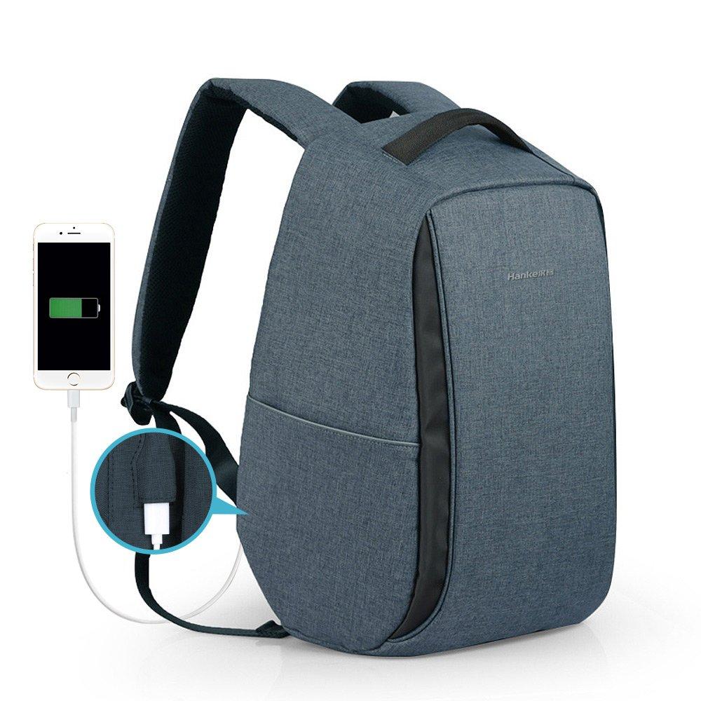Hanke Travel Backpack, Anti-Theft Business Laptop Backpack Travel Safer Daypack For Men Women Student