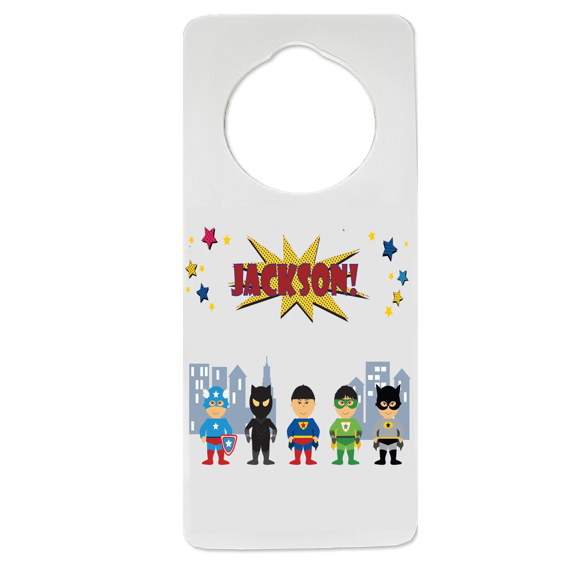 Personalized Superhero Asian Nursery Door Hanger