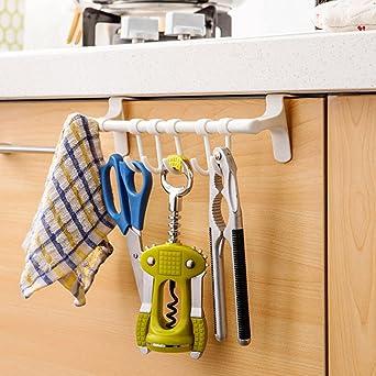 HOKIPO Plastic Door Hook Hanger (White)