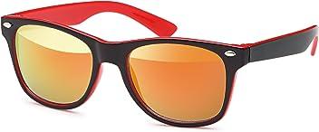 Kinder Wayfarer-Sonnenbrille mit verspiegelten Gläsern- UV 400 Filter und CE-Prüfzeichen