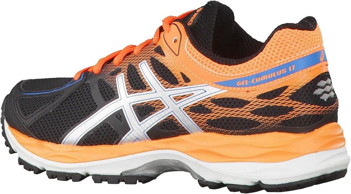 Asics Zapatillas de Running Gel-Cumulus 17 GS Negro/Naranja EU 33 (US 1H): Amazon.es: Zapatos y complementos